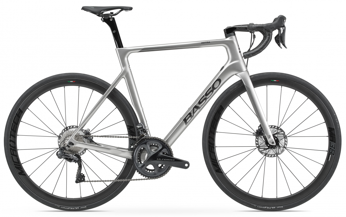 Astra disc, Ultegra Di2, ice silver, MR38, 2021
